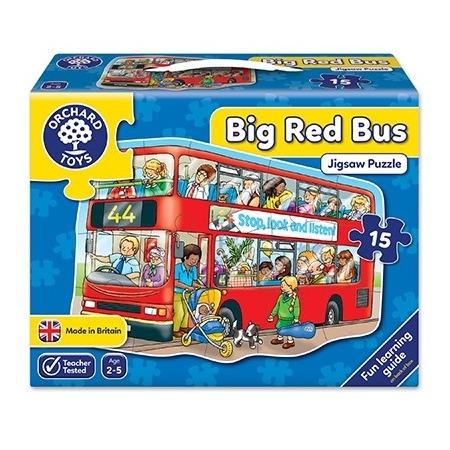 Puzzle de podea autobuzul (15 piese) big bus, Orchard Toys*
