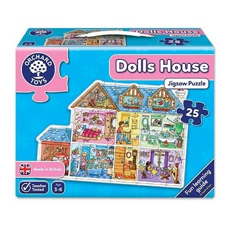 Puzzle de podea casa (25 piese) dolls house jigsaw, Orchard Toys*