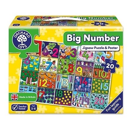 Puzzle de podea invata numerele (de la 1 la 20) big number jigsaw, Orchard Toys*