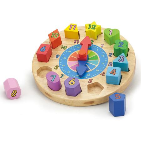 Puzzle din lemn ceas, New Classic Toys*