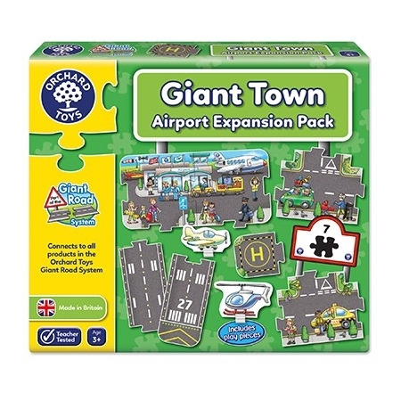 Puzzle gigant de podea aeroport (9 piese) giant road expansion pack airport, Orchard Toys*