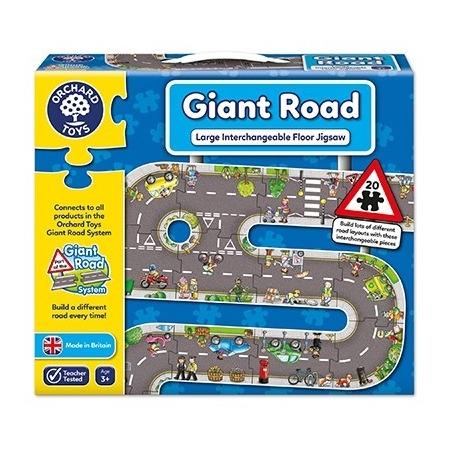 Puzzle gigant de podea traseu masini (20 piese) giant road jigsaw, Orchard Toys*