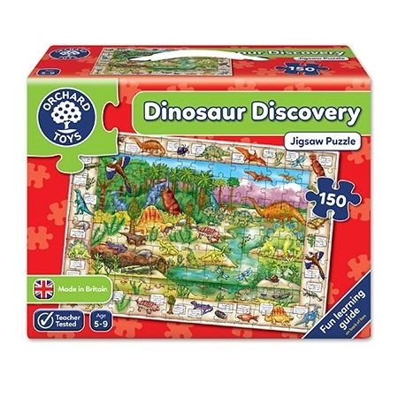 Puzzle in limba engleza lumea dinozaurilor (150 piese) dinosaur discovery, Orchard Toys*