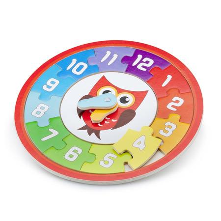 Puzzle lemn ceas - bufnita, New Classic Toys*