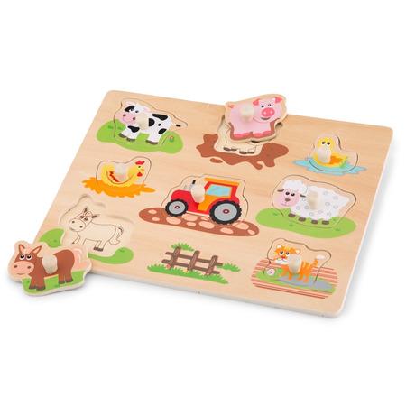 Puzzle lemn ferma, New Classic Toys*