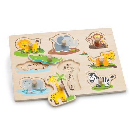 Puzzle lemn safari, New Classic Toys*