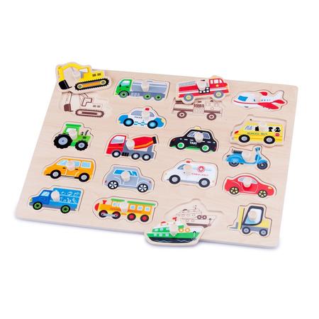 Puzzle lemn vehicule, New Classic Toys*