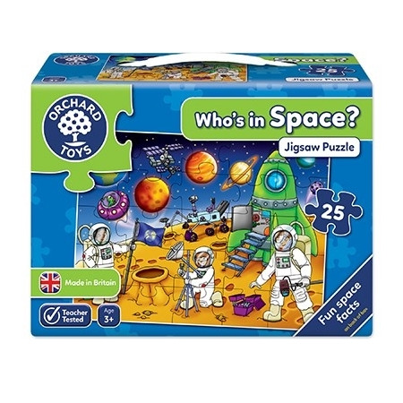 Puzzle spatiul cosmic (25 piese) who's in space, Orchard Toys*