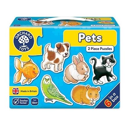 Set 6 puzzle animale de companie (2 piese) pets, Orchard Toys*