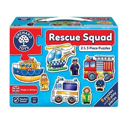 Set 6 puzzle echipa de salvare (2 si 3 piese) rescue squad, Orchard Toys*