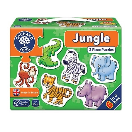 Set 6 puzzle jungla (2 piese) jungle, Orchard Toys*