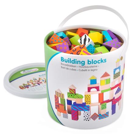 Set de 100 de cuburi din lemn, New Classic Toys*