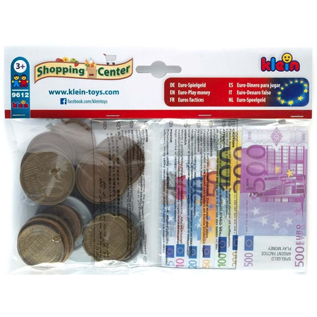 Set euro bancnote, monede si chitante, Klein*
