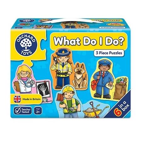 Set mai multe puzzle meserii (3 piese) what do i do?, Orchard Toys*