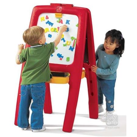 Tabla dubla pentru copii - easel for two culoare rosu, Step2*