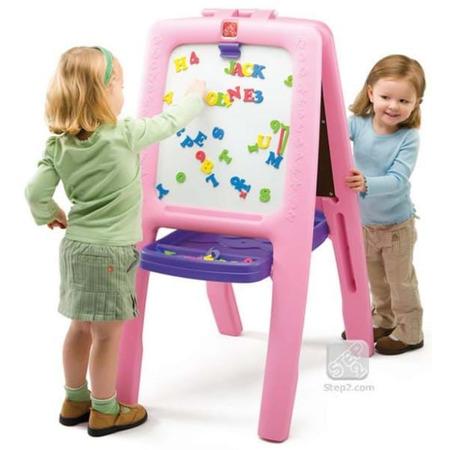 Tabla dubla pentru copii - easel for two culoare roz, Step2*