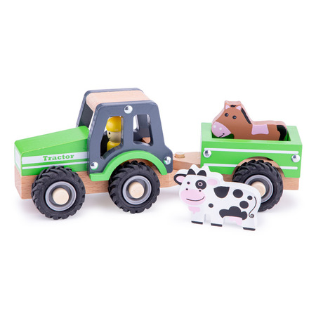 Tractor cu trailer - animale, New Classic Toys*