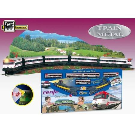 Trenulet electric calatori cercanias renfe cu peisaj, Pequetren*