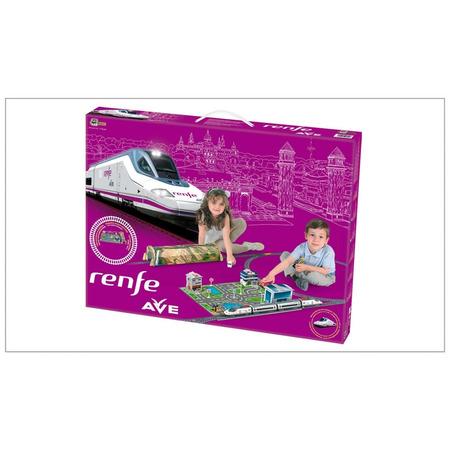 Trenulet electric high speed renfe cu statie, tunel si oras, Pequetren*
