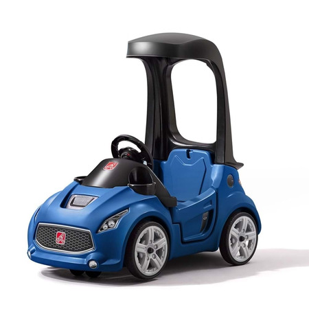 Vehicul albastru turbo coupe foot-to-floor, Step2*