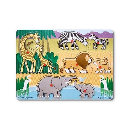 Puzzle lemn Safari Melissa and Doug*