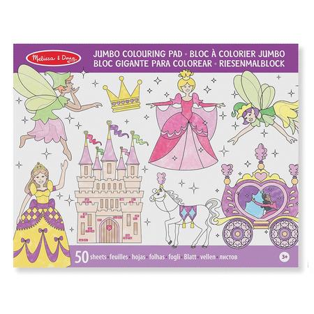 Caiet jumbo cu desene pentru colorat Printese si zane Melissa and Doug*