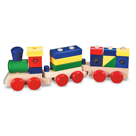 Trenulet din lemn de stivuit Melissa and Doug*