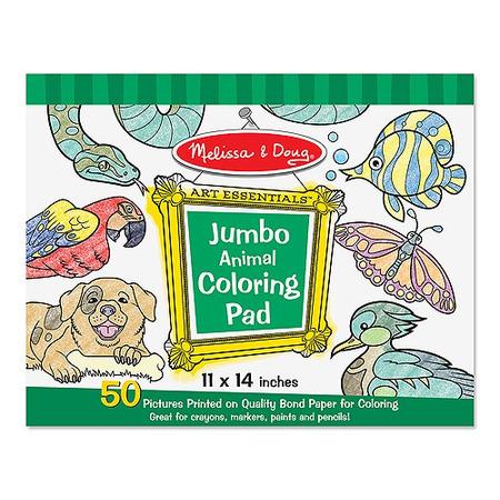 Caiet jumbo cu planse pentru colorat Animale Melissa and Doug*