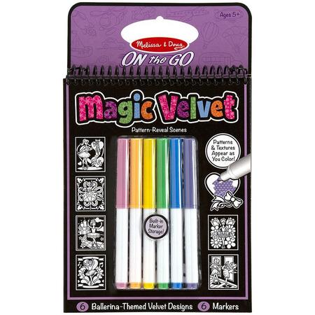 Carnet de colorat Catifeaua magica Fluturi si Flori Melissa and Doug*