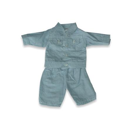 Set costum jeans pentru papusi Miniland 38-42 cm*