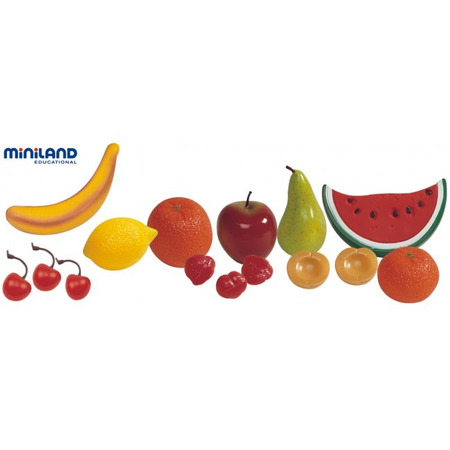 Set fructe din plastic Miniland 15 buc*