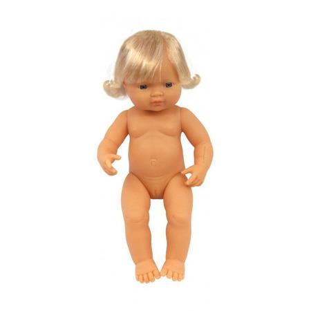 Papusa Bebelus european fetita Miniland 38 cm*