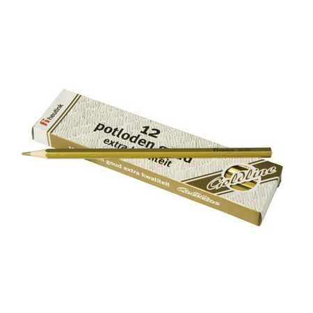 Set 12 creioane hexagonale Goldline Auriu metalic  - Heutink*