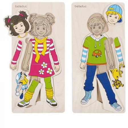 Puzzle lemn Imbracam copiii Beleduc*