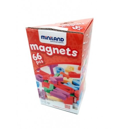 Set 66 litere mari magnetice - Miniland