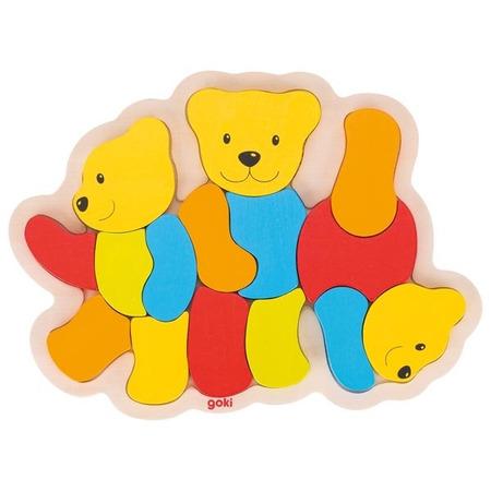 Puzzle din lemn Trei Ursuleti*