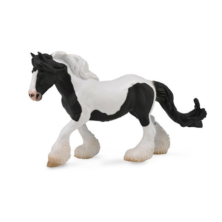 Figurina Cal Gypsy Mare - alb si negru XL Collecta*