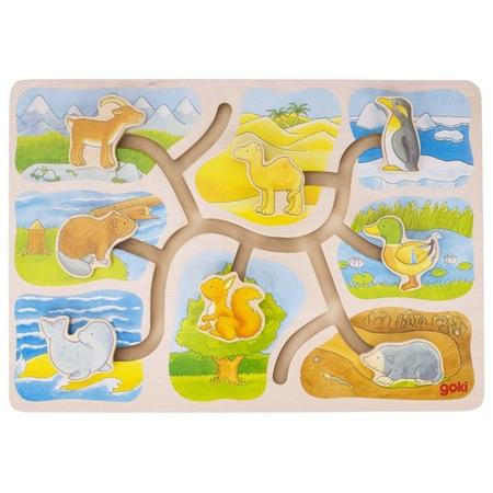 Labirint din lemn Casutele animalelor*