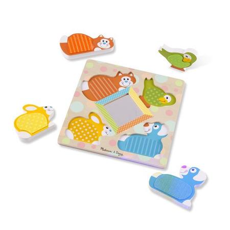 Puzzle tactil cu oglinda Pets Melissa and Doug*