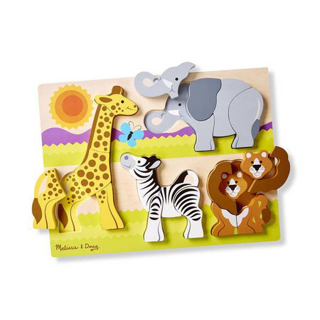 Puzzle din lemn Jumbo Safari Melissa and Doug*