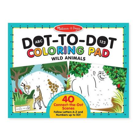 Bloc de colorat punct cu punct Animale salbatice - Melissa & Doug*