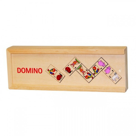 Domino Animale in cutie de lemn*