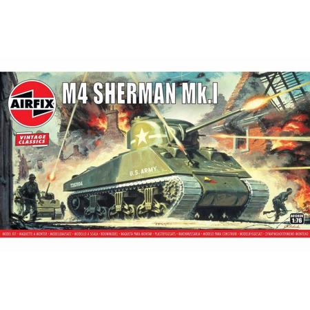 Kit constructie Airfix Tanc Sherman M4 Mk1 1:76*
