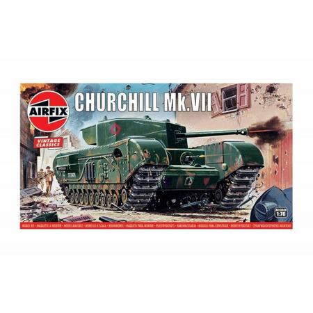 Kit constructie Airfix Tanc Vintage Classics - Churchill Mk.VII Tank 1:76*