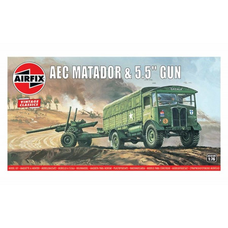 "Kit cosntructie Airfix AEC Matador and 5.5"" Gun 1:76*"