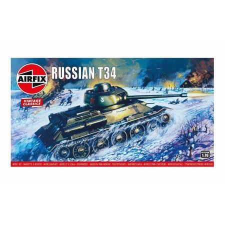 Kit constructie Airfix tanc Vintage Classics - Russian T34 Medium Tank 1:76*