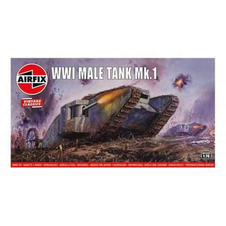 Kit constructie Airfix tanc Vintage Classics - WWI Male Tank Mk.I 1:76*
