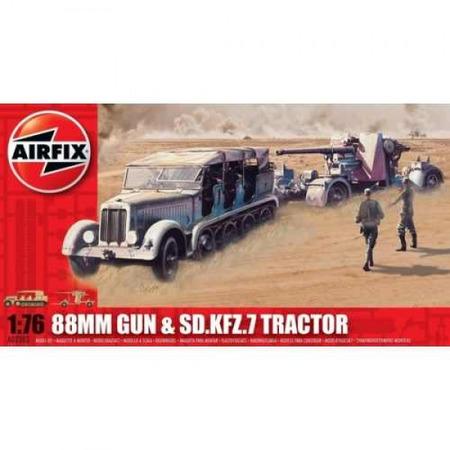 Kit constructie Airfix Tun antitanc 88mm Gun SD KFZ Tractor*