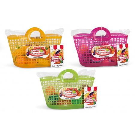 Set alimente fructe si legume plastic in cosulet cumparaturi, Globo*