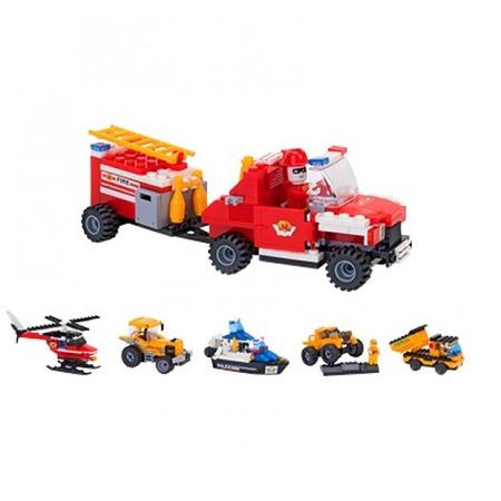 Set Constructie 2 Vehicule pentru Copii GLOBO CUBIX *